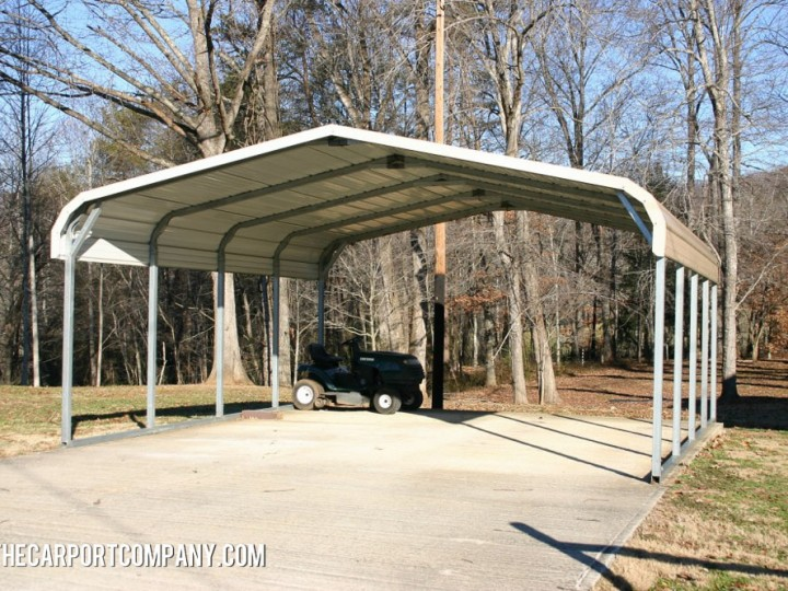 Open metal carport the carport company for Open carports