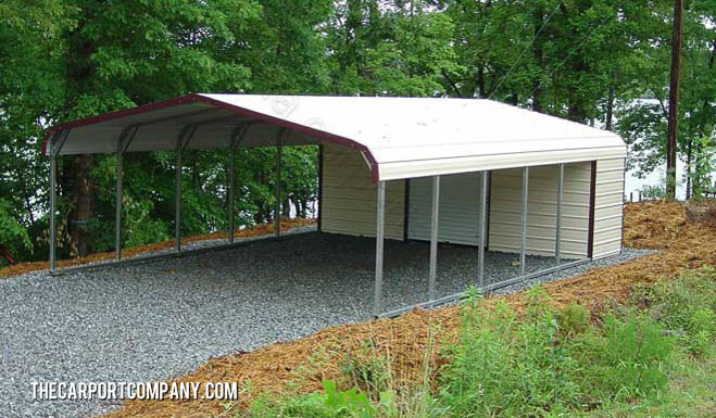 Open metal carports the carport company for Open carports
