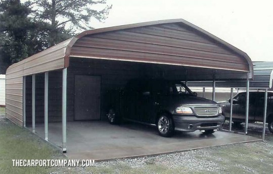Shop port metal carports the carport company for Carport shop combo