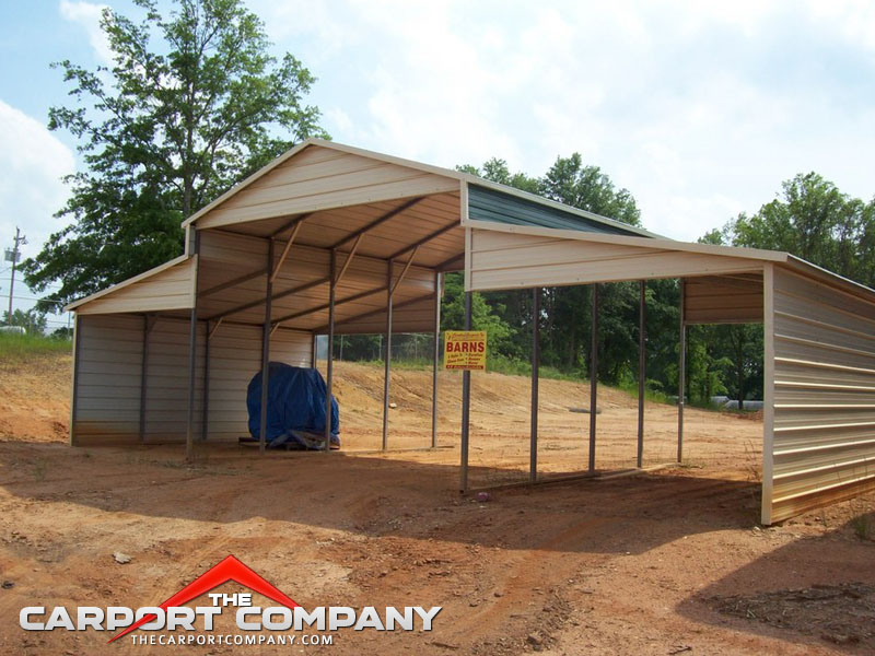 23 model barn style carports for Carport one